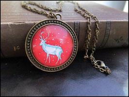 Hirschkette auf Rot, Design: PoinT