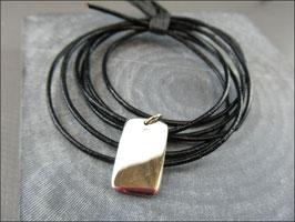 925er Silbermarke als Anhänger allein, am Lederband oder an der Silberlette