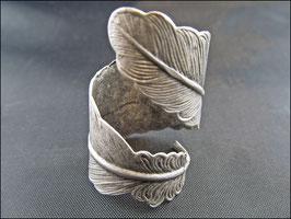 Riesenfeder Ring, silber- oder bronzefarben