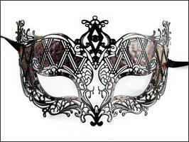 Venezianische Maske aus Metall Fuchs