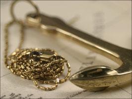 Toller Messing Anker an wunderschöner Halskette 80 cm