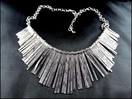 Maya Halskette mit Gliedern silberfarben