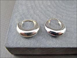 925er Silber Creolen bauchig 1.6 cm Durchmesser