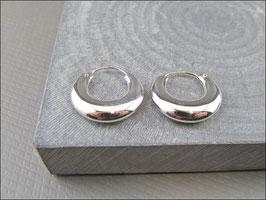 925er Silber Creolen bauchig 1.8 cm Durchmesser