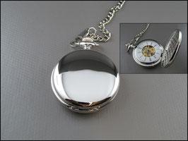 Silberfarbene Taschenuhr Savonette Pure