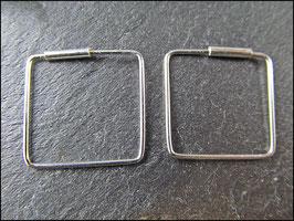Ohrringe Quadrat aus 925er Silber, verschiedene Größen