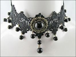 Schwarzes Spitzen Halsband Elaine