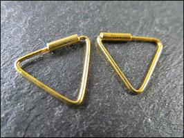 Dreiecke - Echt Silberohrringe vergoldet
