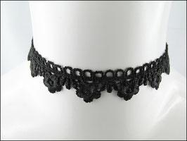 Einfaches Spitzen Halsband schwarz Jolande
