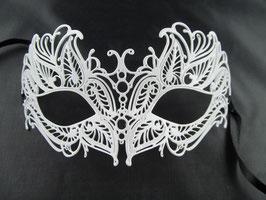 Venezianische Weiße Maske Fuoco