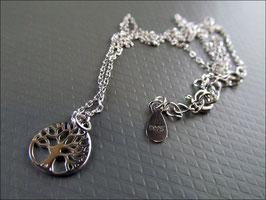 925er Silberkette mit Lebensbaummotiv