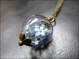Kleine zarte Vergissmeinnicht Halskette