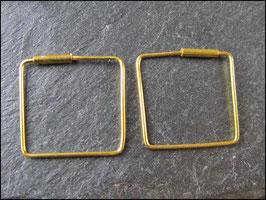 Ohrringe Quadrate echt 925er Silber vergoldet