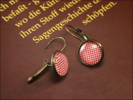Polkadot Ohrringe Hänger mit hübschen Rot-Weiß Muster