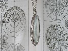 Lupenkette in Antik Silber