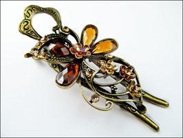 L`Art Nouveau - Haarspange im Stil der L`Art Nouveau - bernsteinfarben