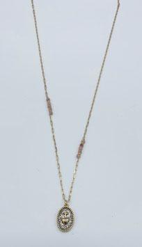 SANTA collier avec médaille émaillée