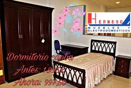 Dormitorio Juvenil Cama 90, caoba