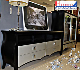Composición modular Vajillero cristal y mesa tv