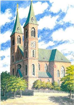 Franztaler Kirche als Farbdruck