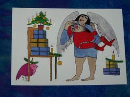 Postkarte Geschenke für den Weihnachtsmann