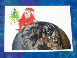Postkarte Frohe Weihnachten für die ganze Welt