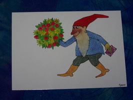 Postkarte Blumenstrauß