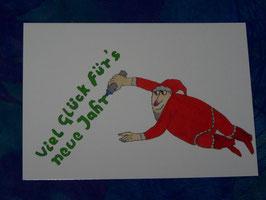 Postkarte Viel Glück