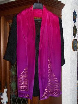 Purple Elegance, Crêpe de Chine Schal