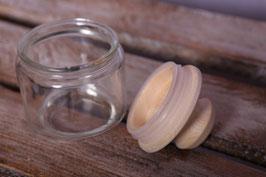 Vorratsglas mit Zirbendeckel, 200ml