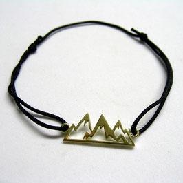 Bergkette aus Gold für den Arm