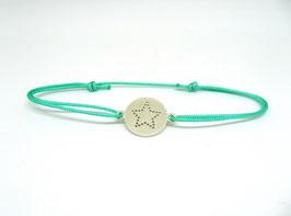 Sternchenplakette Armband aus Silber