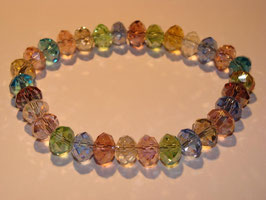 Rainbow Crystals Armband