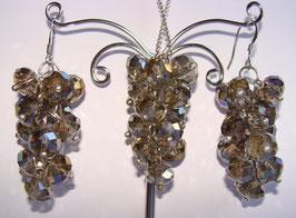 """Rainbow Crystals Set Ohrringe und Anhänger, """"Noblesse"""""""