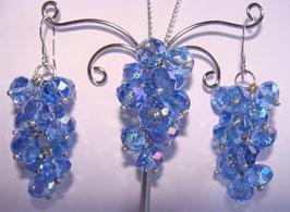 """Rainbow Crystals Set Ohrringe und Anhänger, """"Ocean"""""""