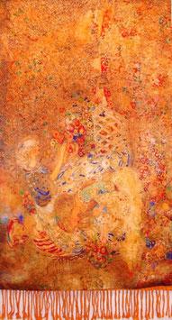 "Luxuriöser Seidenschal ""Klimt Inspiration"""
