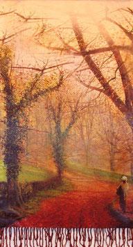 """Luxuriöser Seidenschal """"Goldener Herbst"""""""
