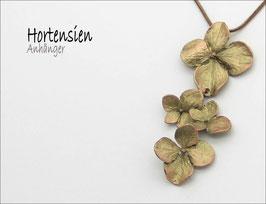*Hortensien-Anhänger mit Kette