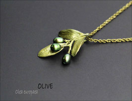 *Oliven-Anhänger mit Kette