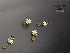 *Zitronen-Blüten-Ohrschmuck