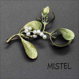 *Mistel-Brosche