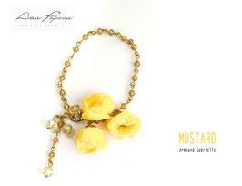 -Mustard    Armband Gabrielle