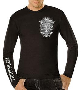 """Tri Langarm-Shirt """"Tiki"""", schwarz"""
