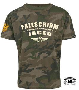 FALLSCHIRMJÄGER-Shirt ...camo / black