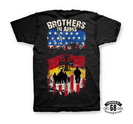 BROTHERS IN ARMS T-Shirt / Farbe: schwarz, Motiv beidseitig