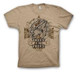 Treue um Treue T-Shirt, sand