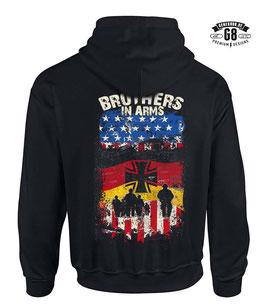 BROTHERS IN ARMS Kapuzensweatshirt / Farbe: schwarz, Motiv beidseitig