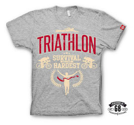 "Triathlon-Shirt ""No. 1"", grau-meliert"
