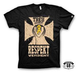 R E D U Z I E R T !!!   ...jetzt im Abverkauf: TREU GEDIENT T-Shirt schwarz