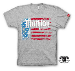 "Triathlon-Shirt ""Big Island""  Heather Grey"